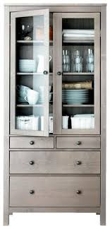 hemnes glass door cabinet for dishes