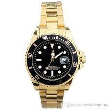 2016 men watches golden stainless steel band quartz luxury brand r shipping 2016 men watches golden stainless steel band quartz luxury brand r wristwatches black