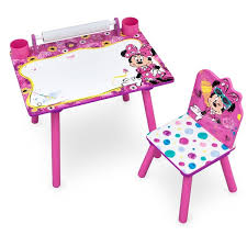 disney minnie mouse art desk with dry erase tabletop by delta children