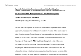 value in fairy tales appropriations of little red riding hood document image preview