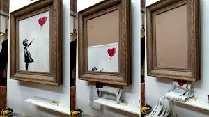 Banksy reveals he meant to shred entire £1m Girl With Balloon painting |  Ents & Arts News