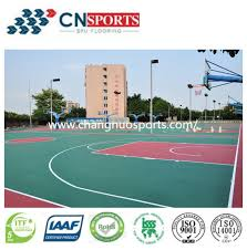game courts outdoor spu rubber flooring for sports playground floor