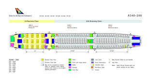 south african airways a340 200 seat plan