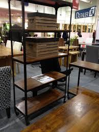 trendy rustic wood and metal shelving unit off cat wall shelves shelf ideas full size