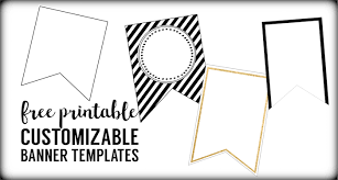 Baby Banners Template Free Printable Banner Templates Blank Banners Paper Trail Design