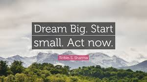 Dream Big Start Small Quotes