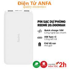 Sạc dự phòng Xiaomi Redmi 10000mAh/20000mAh PB100LZM- power bank BẢO HÀNH 6  THÁNG 1 ĐỔI 1 giảm tiếp 279,000đ