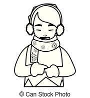 かわいい 男の子 冬服ストックイラストレーション Csp45181007