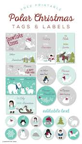 Printable Christmas Card Templates Adorable Free Printable Polar Labels And Tags For Kids Designed By Liag