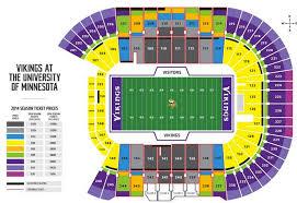 Minneapolis Us Bank Stadium Seating Chart Vikings Tcf Bank Stadium Seating Chart
