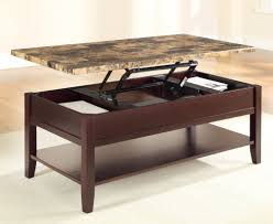 Image of: Faux Marble Top Coffee Table