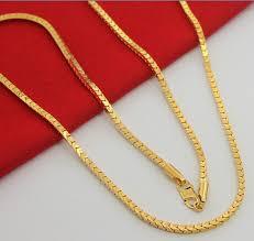 3mm box chain men s long necklace
