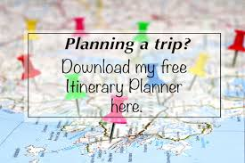 Free Trip Itinerary Planner Your Free Downloadable Itinerary Planner
