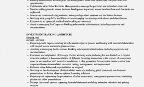 Investment Banking Associate Resumes Corto Foreversammi Org