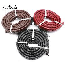 2019 aiovlo 1yard12x6mm braided real leather cord bracelet findings flat leather rope thread for diy jewelry making supplies from baozii 38 72 dhgate