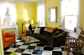Orange Living Room Furniture Actual Living Room Before And Afternow With Furniture