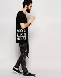 T Shirt Design Ideas Image 4 Of Asos Longline T Shirt With Typographic Text Patches