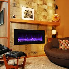 caesar fireplace 50 in wall mount electric fireplace w back lighting chfp