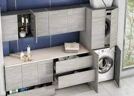 Couvercle meuble haut buanderie meuble cuisine machine à laver et sèche linge deco meuble maison. Meuble Buanderie Une Salle De Bains Fonctionnelle Ambiance Bain