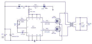 simple w inverter circuit electronic circuits and diagram circuit diagram notes