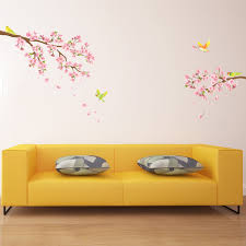 cherry blossoms birds wall stickers