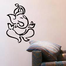 indian ganesha wall stickers home decor living room self adhesive removable wall decals vinyl art mural ganesha wall stickers wall stickers home decor
