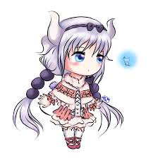 anime chibi dragon. Perfect Chibi Kanna Maid Dragon Chibi By GennySnail  With Anime Dragon G