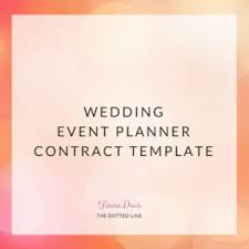 Dotted Line Template Wedding Event Planner Contract The Dotted Line
