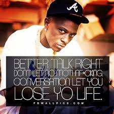 Lil Boosie Quotes Adorable Lil Boosie Better Talk Right Quote Facebook Wall Pic FBWallPics