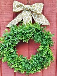 faux boxwood garland for decorate wreath interest