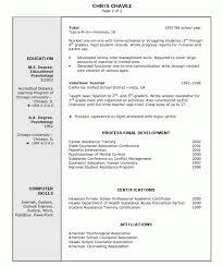 Resume education part of resume sample