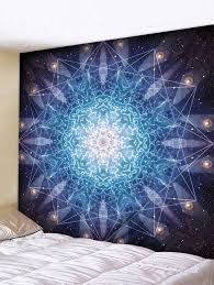 sacred geometry wall art decor hanging tapestry multicolor w79 inch l71 inch