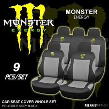 Aliexpress Com Buy Monster Car Seat Cover Automotive Racing