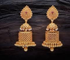 Latest Gold Jhumka Earrings Design With Price In India 55 Beautiful Gold Jhumka Earring Designs Tips On Jhumka