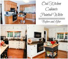 Contemporary Painting Oak Kitchen Cabinets White Paint My Throughout Design