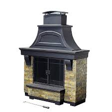 wood burning fireplace insert with gas starter glass doors open or closed