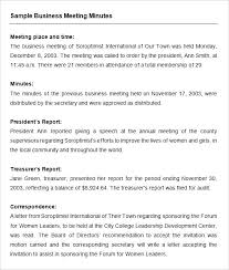 Meeting Summary Sample Business Meeting Recap Template Recap Meeting Template