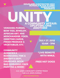 Art Event Flyer Event Unity A Community Affair Uplifting One Another July