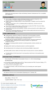 business development manager cv format resume sample resume format for business development manager
