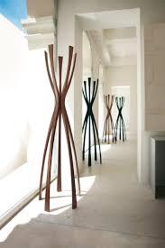 floor coat rack contemporary metal walnut flamingo by g lo