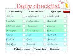 Handy Printable Morning Routine Checklist Education That I Love