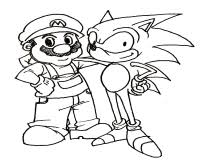 Mario Sonic Coloring Pages Sonic And Mario Coloring Pages