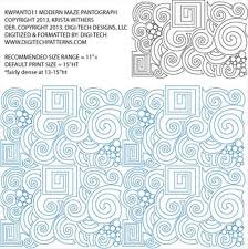 84 best Krishma Quilts ~ Premium Edge 2 Edge Designs~ Longarm ... & Modern Maze #1 Pantograph by Krista Withers KWPANTO11 · Longarm QuiltingFree  Motion QuiltingQuilting IdeasMachine Quilting PatternsQuilting ... Adamdwight.com