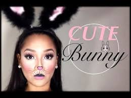 cute simple bunny makeup tutorial