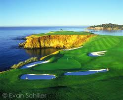 Designer Of Pebble Beach Golf Course 8th Hole Pebble Beach Golf Links Just After Sunrise Behind