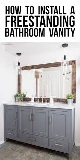 Raising A Bathroom Vanity How To Install A Freestanding Bathroom Vanity Cherished Bliss