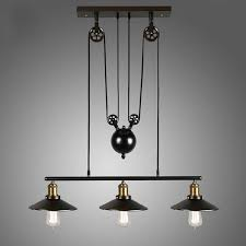 industrial style lighting fixtures home. Practical Pulley Light Fixture Homestia Vintage Pendant Loft Ceiling Hanging Lamp Home Industrial Style Lighting Fixtures S