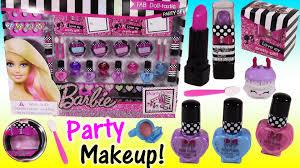 barbie fab doll tastic makeup party set lip gloss lipstick nail polish party bo kins you