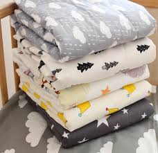 Style Cotton Cartoon Clouds Crown Baby Cool In Summer Quilt Light ... & Nordic Style Cotton Cartoon Clouds Crown Baby Cool In Summer Quilt Light  And Comfortable Baby Bedding Air Conditioning Quilt Adamdwight.com