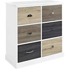 ameriwood home mercer 6 door storage cabinet with multicolored door fronts white com
